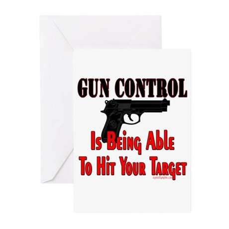 GUN CONTROL ~ HANDGUN Greeting Cards (Pk of 10)