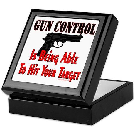 GUN CONTROL ~ HANDGUN Keepsake Box