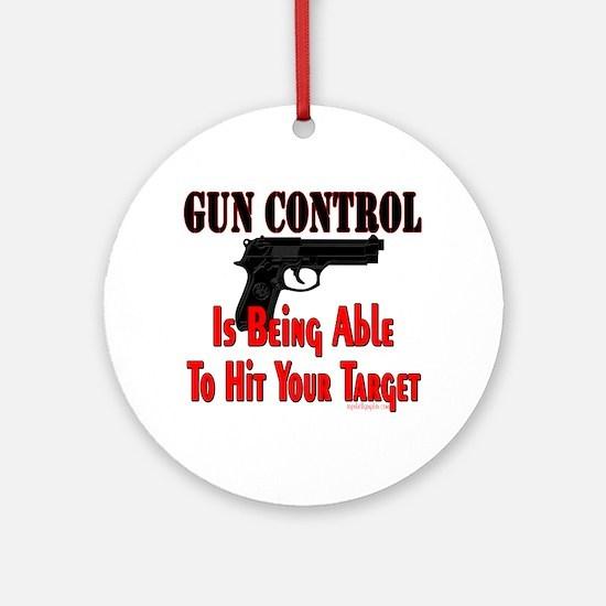 GUN CONTROL ~ HANDGUN Ornament (Round)
