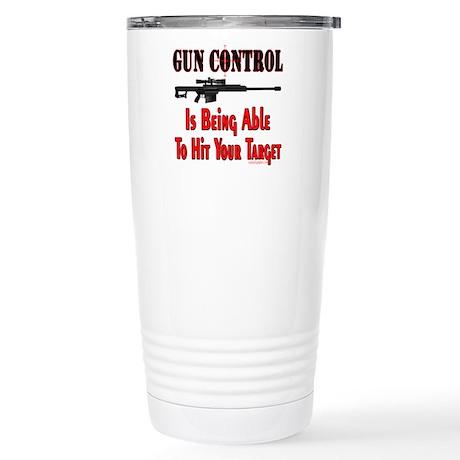 GUN CONTROL ~ RIFLE Stainless Steel Travel Mug