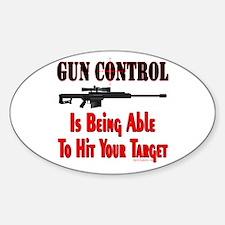 GUN CONTROL ~ RIFLE Oval Decal