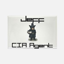 Jeff - CIA Agent Rectangle Magnet