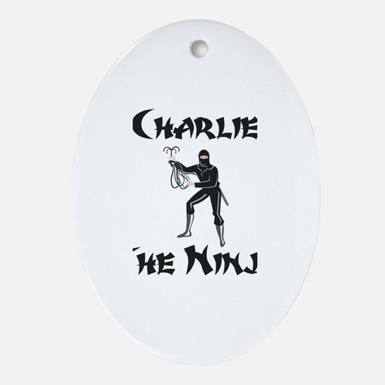 Charlie - The Ninja Oval Ornament