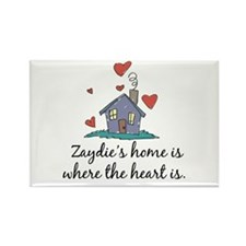 Zaydie's Home is Where the Heart Is Rectangle Magn