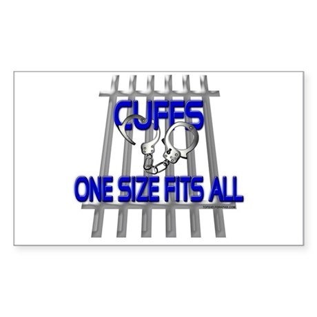 CUFFS Rectangle Sticker