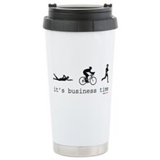 It's Business Time Triathlon Travel Mug