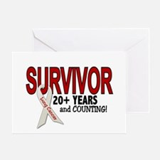 Lung Cancer Survivor 20+ Years 1 Greeting Card