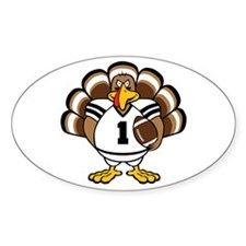 Turkey Bowl Oval Decal