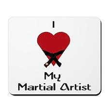 I Love (Heart) My Martial Artist Mousepad