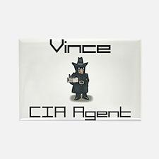 Vince - CIA Agent Rectangle Magnet