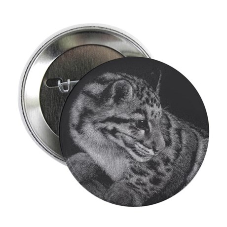 Clouded Leopard Button