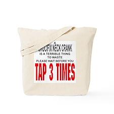 Crucifix Neck Crank Tote Bag