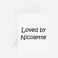 Cool Nicolette Greeting Card