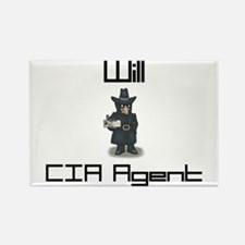Will - CIA Agent Rectangle Magnet