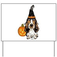 Halloween Pumkin Basset Yard Sign