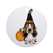 Halloween Pumkin Basset Ornament (Round)