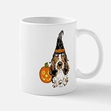 Halloween Pumkin Basset Small Small Mug