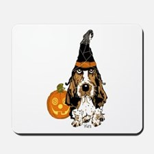 Halloween Pumkin Basset Mousepad