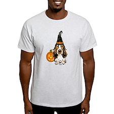 Halloween Pumkin Basset T-Shirt
