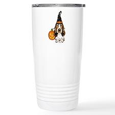 Halloween Pumkin Basset Travel Mug