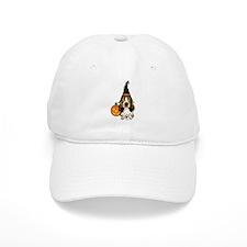 Halloween Pumkin Basset Baseball Cap