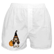Halloween Pumkin Basset Boxer Shorts
