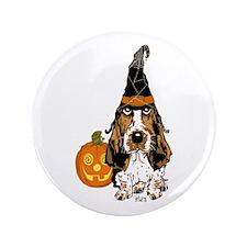 "Halloween Pumkin Basset 3.5"" Button (100 pack"