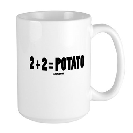 2+2=POTATO Large Mug