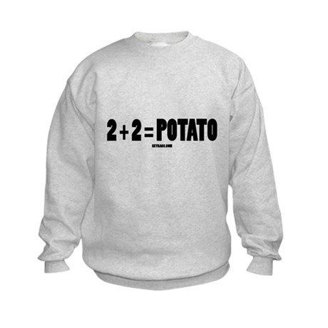 2+2=POTATO Kids Sweatshirt