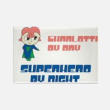 Charlotte - Super Hero by Nig Rectangle Magnet
