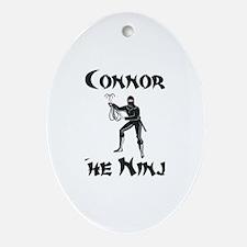Connor - The Ninja Oval Ornament