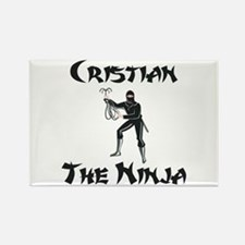Cristian - The Ninja Rectangle Magnet