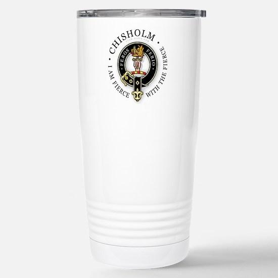 Clan Chisholm Stainless Steel Travel Mug
