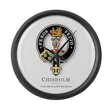 Clan Chisholm Large Wall Clock