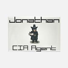 Jonathan - CIA Agent Rectangle Magnet