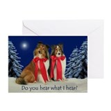 Christmas shelties Greeting Cards (10 Pack)