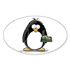 Sushi Penguin Oval Decal