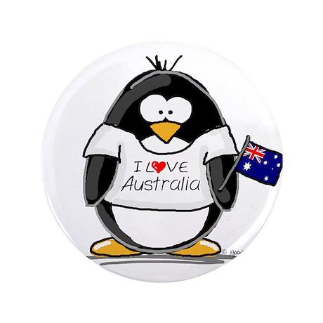 "Australia Penguin 3.5"" Button"