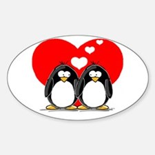 Loving Couple Oval Decal