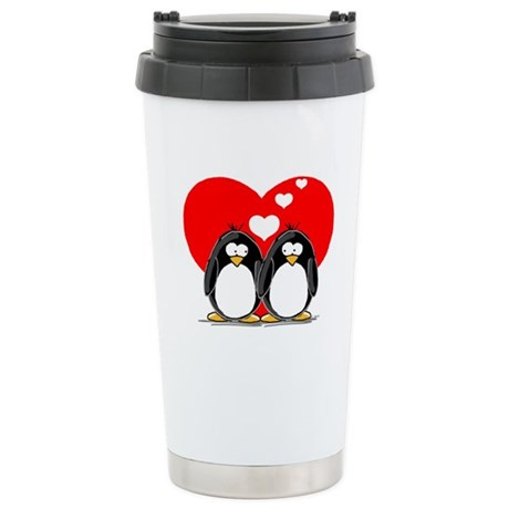 Loving Couple Stainless Steel Travel Mug