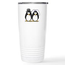 Bride and Groom Penguins Travel Mug
