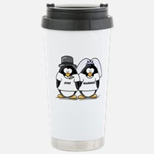 Just Married Bride and Groom Travel Mug