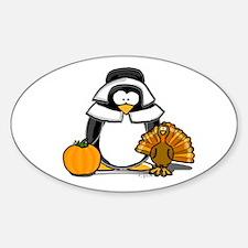 Pilgrim Girl Penguin Oval Decal