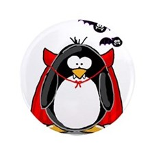 "Dracula Penguin 3.5"" Button"