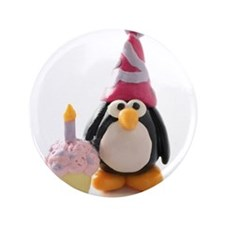 "Birthday Penguin 3.5"" Button"