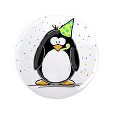 "Party Penguin 3.5"" Button"