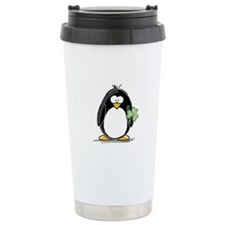 Shamrock Penguin Travel Mug