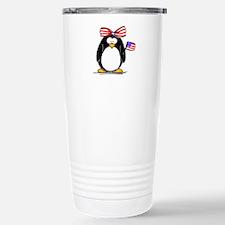 Patriotic Girl penguin Travel Mug