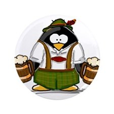 "Oktoberfest Boy Penguin 3.5"" Button"