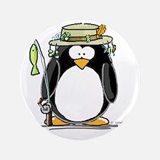 "Fishing penguin 3.5"" Button"